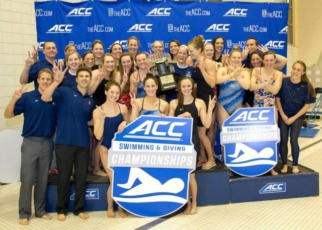 Virginia wins their 8th-straight ACC title. Courtesy of Todd Kirkland, theACC.com