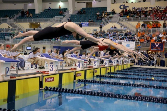 The start of the 1650 freestyle. Courtesy of Todd Kirkland, theACC.com