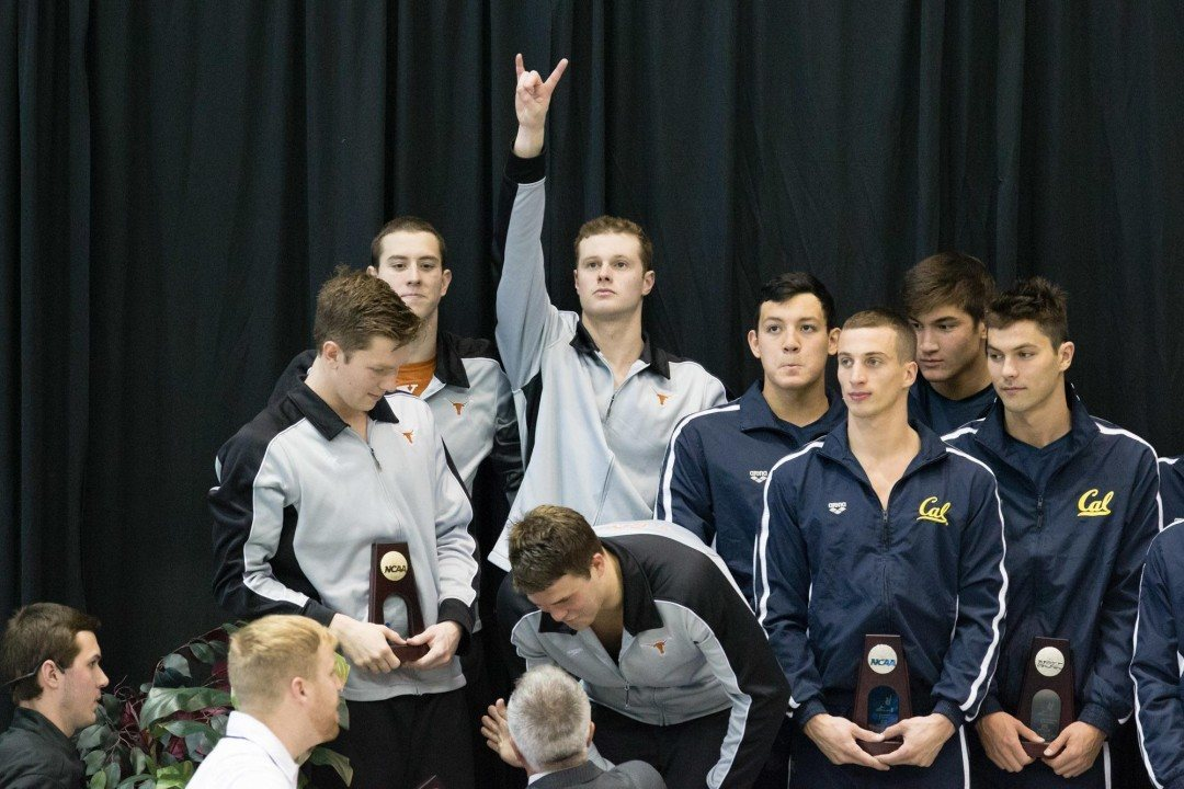 2016 M. NCAA Picks: Texas Taper vs. Wolfpack Hunger in 800 Free Relay