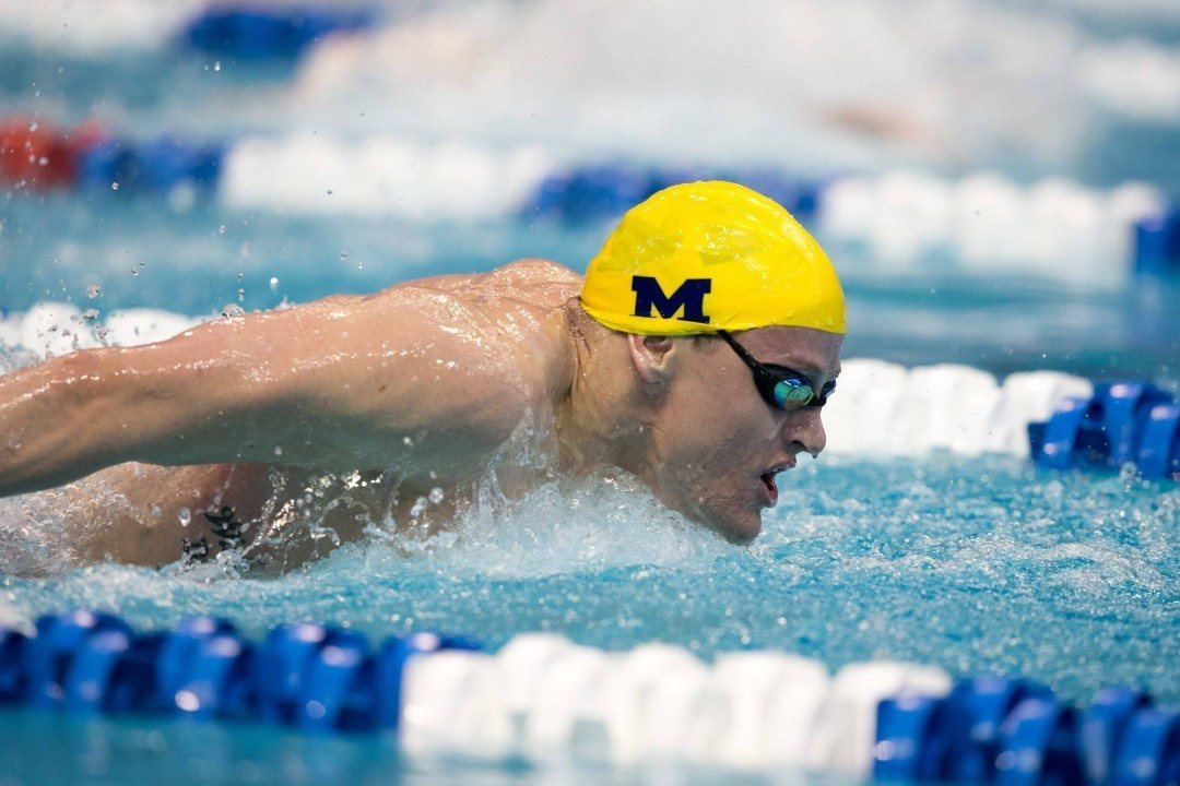 Michigan's Dylan Bosch Drops 400 IM From NCAA Lineup for 100 Fly