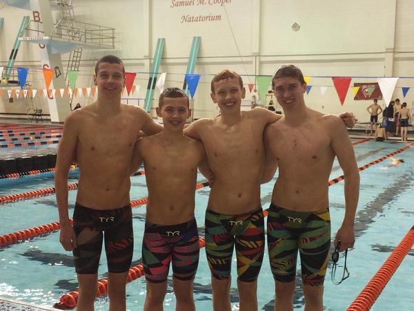 Cincinnati Marlins Down AquaZot Boys' 13-14 400 Medley Relay NAG