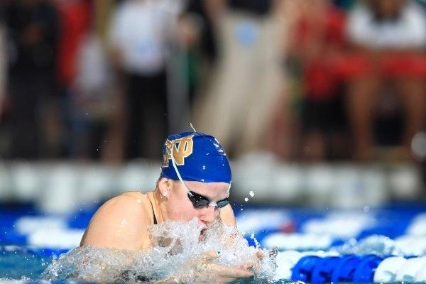 Emma Reaney. Photo by Walt Middleton. From Notre Dame Athletics website.