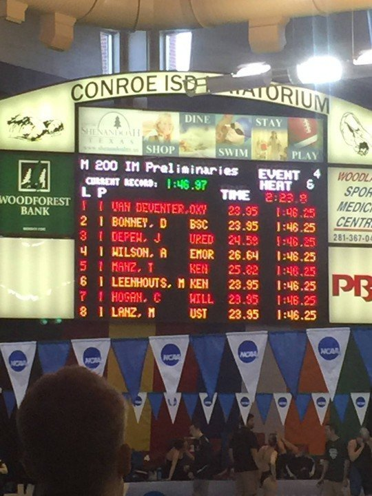 Wilson and Manz Slip Under 200 IM Record in Prelims