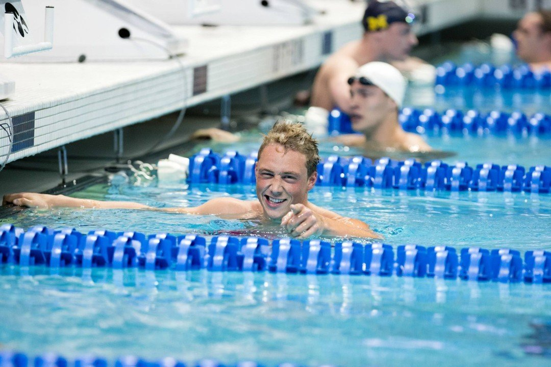 2015 Men's NCAA Championships Day 1 Finals: Nolan crushes 200 IM, Texas sweeps relays with US Open record medley