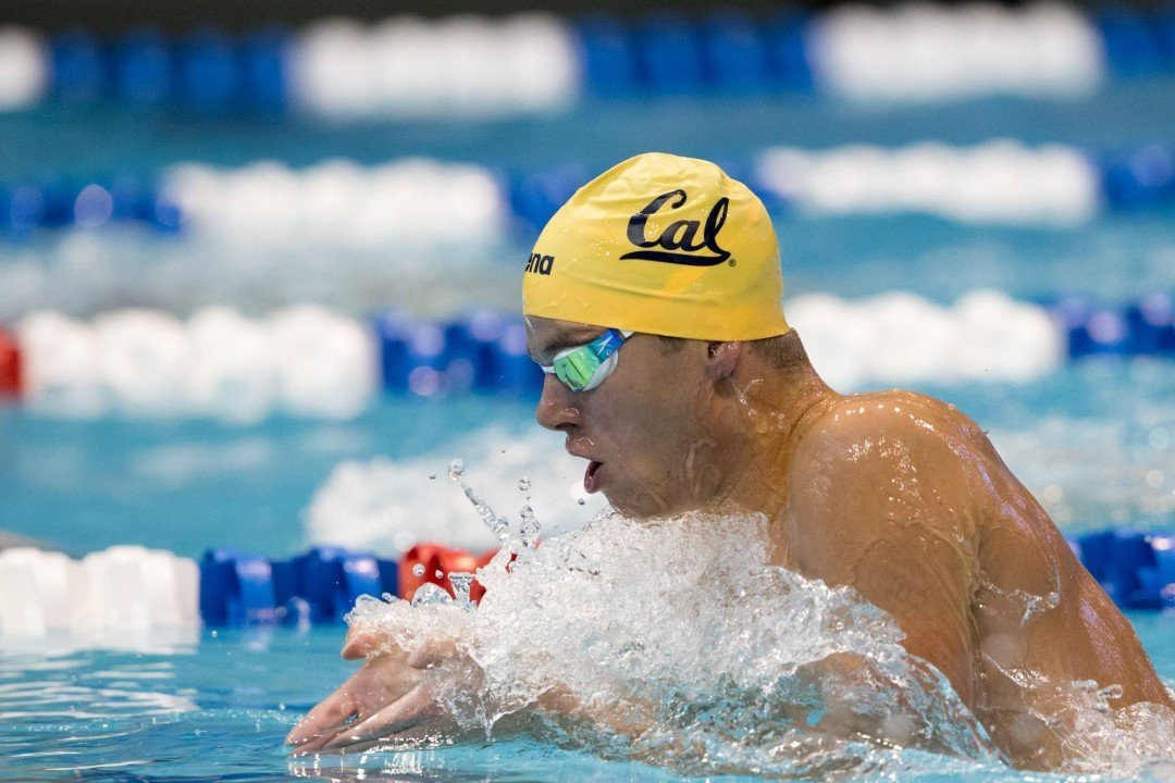 Cal's Josh Prenot Breaks 2 Avery Aquatic Center Records in Win