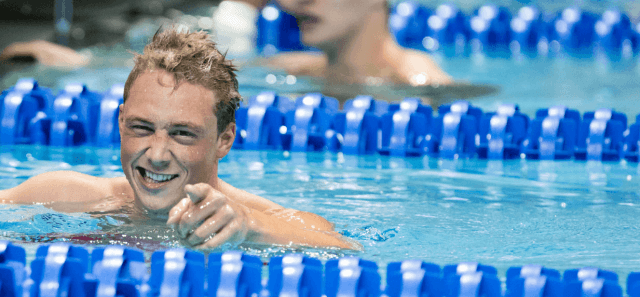 David Nolan, 200 IM winner in NCAA Record time at the 2015 Men's NCAA Championships (courtesy of Tim Binning, theswimpictures.com)