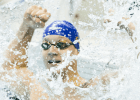 Caeleb Dressel - 2015 Men's NCAA Championships - 50 free winner (courtesy of Tim Binning, theswimpictures.com)