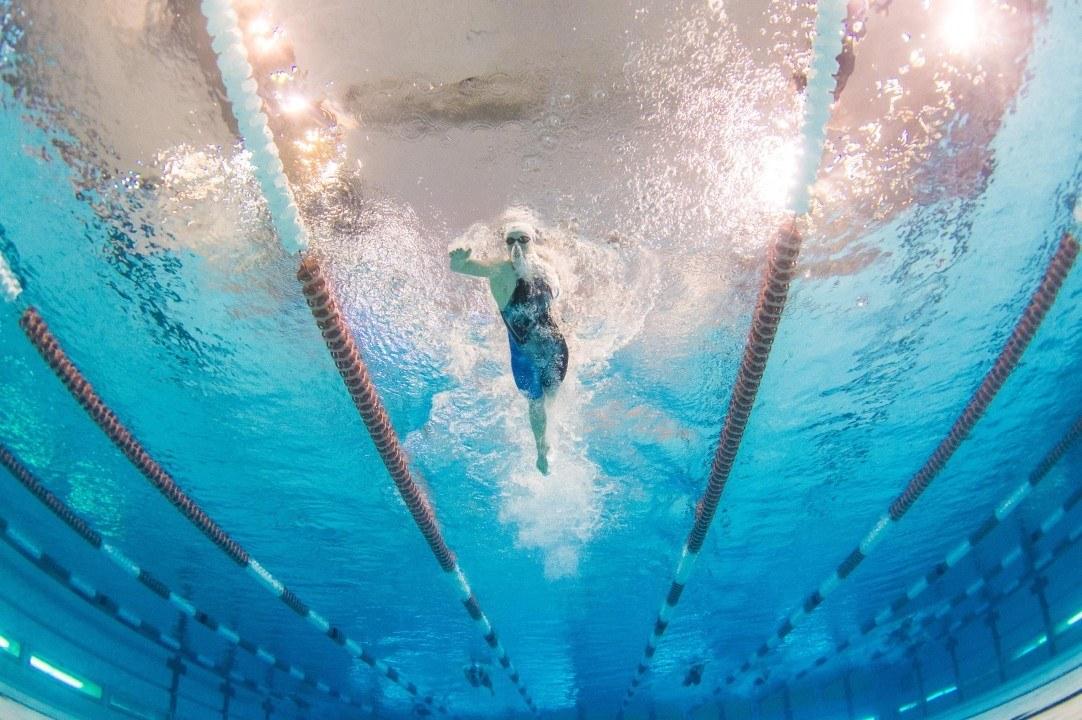 Danielle Villars im Finale der Europameisterschaft über 200m Delfin