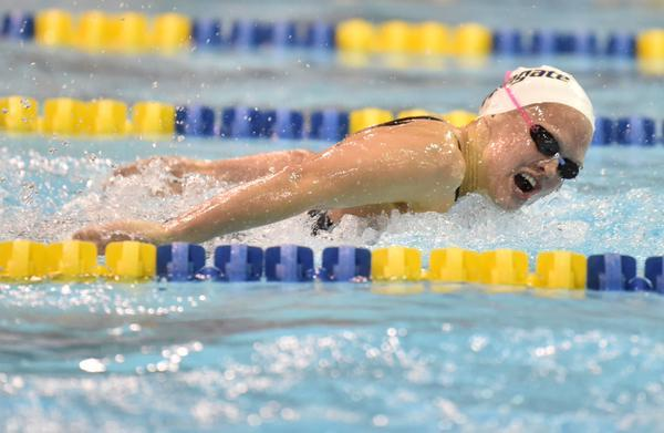 Armony Dumur Sets New DII 100 Butterfly Record On Day 2 of NCAA's