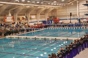Senior Ceremony at 2014 NAIA Nationals at OCCC. Photo: Anne Lepesant