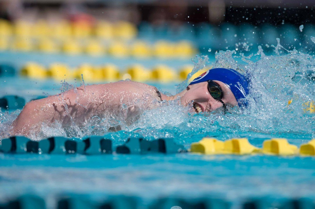 Katie Ledecky Wins 200, 400, and 800 Frees at Indiana Meet (RACE VIDEO)