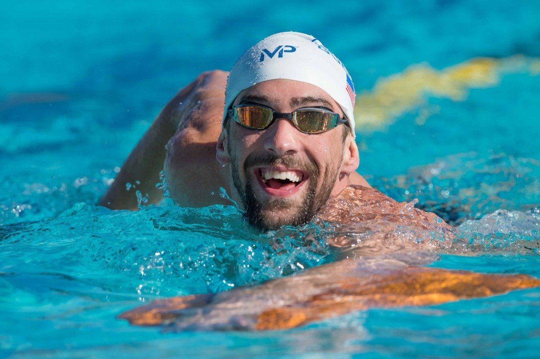 Michael Phelps enters 200 fly among 6 races at Charlotte Pro Swim, psych sheets released