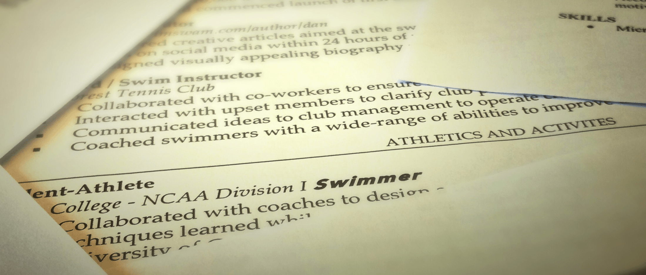 Cover Letter for a Swimmer