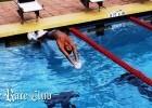 the race club, backstroke start