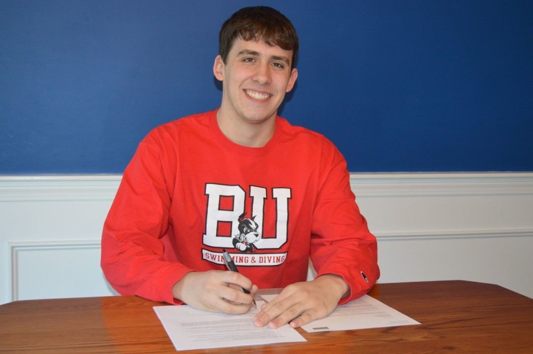 Bluefish Swim Club's Mike Choate signs NLI to swim for Boston University