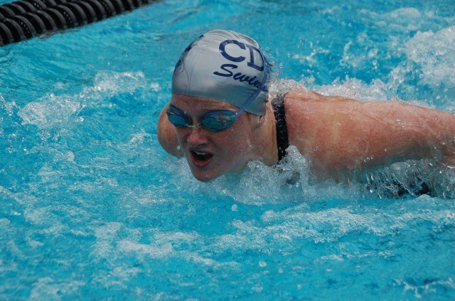 Eva Merrell of Corona del Mar at CIFSS D1. Photo: Anne Lepesant