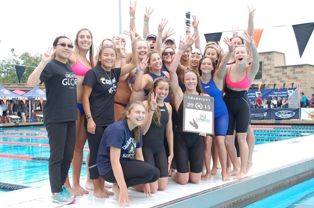 2015 CIF-SS D2 Finals – Eastin National Record Propels Crean; Laguna Boys Win