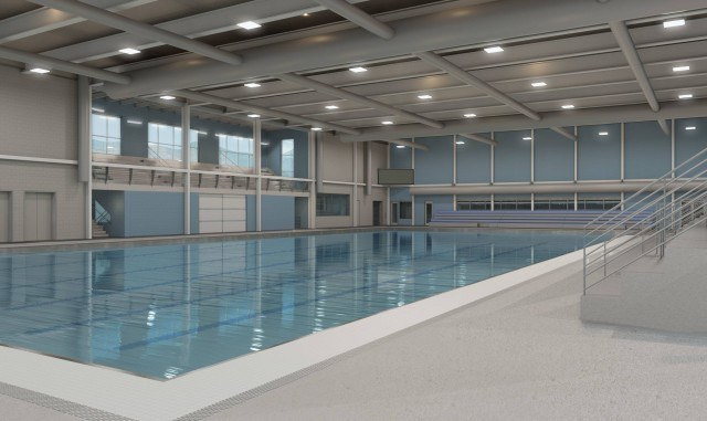 Mecklenburg County Aquatic Center - Conceptual Renderings courtesy of LS3P
