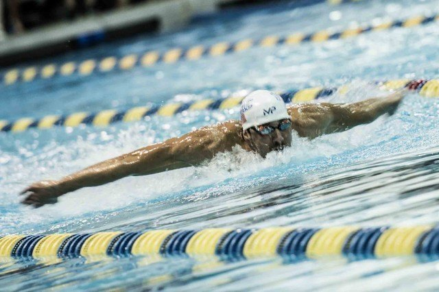 Michael Phelps adding the 200 fly to this weekend's program (photo: Mike Lewis, Ola Vista Photography)