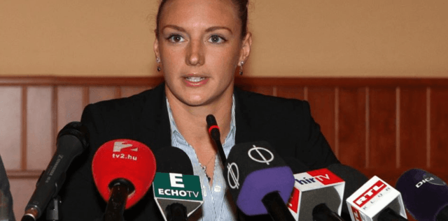 Katinka Hosszu, defends doping allegations, press conference