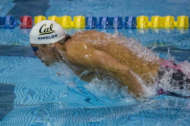 Tom Shields breaking out in the 200 fly prelims (photo: Mike Lewis, Ola Vista Photography)