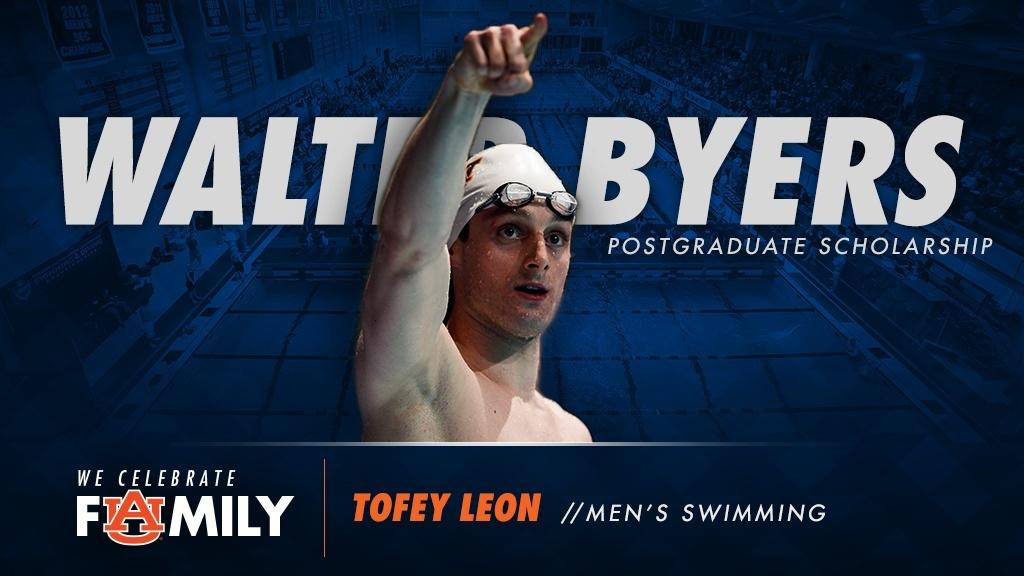 Tofey Leon Awarded Walter Byers Scholarship