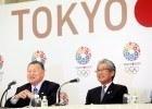 Tokyo 2020/Shugo TAKEMI With (Left to right): Yoshiro Mori, Tokyo 2020 President, and Tsunekazu Takeda, JOC President