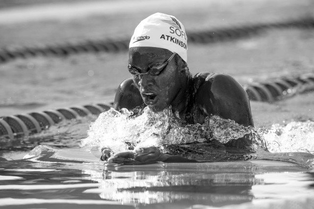 Alia Atkonson in the final of the 200 breaststroke (photo: Mike Lewis, Ola Vista Photography)