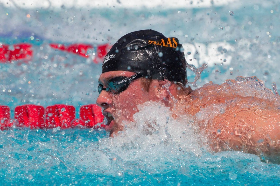 Conger, Schooling Go 45's In 100 Fly At Crazy-Fast Texas Intrasquad