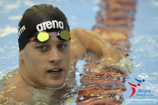 Daniel Gyurta at Bergen Swim Festival in Norway