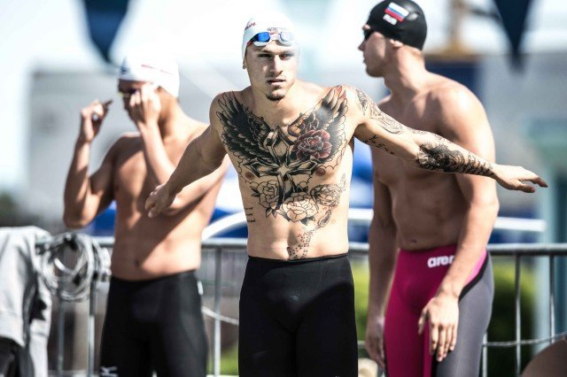 Erik Risolvato 2015 Santa Clara Pro Swim 50 free prelims (photo: Mike Lewis, Ola Vista Photography)