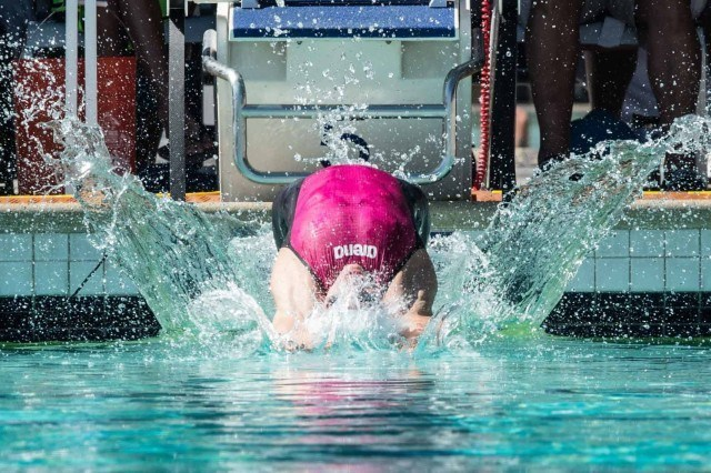 Katinka Hosszu 200 back prelims 2015 Santa Clara Pro Swim (photo: Mike Lewis, Ola Vista Photography)