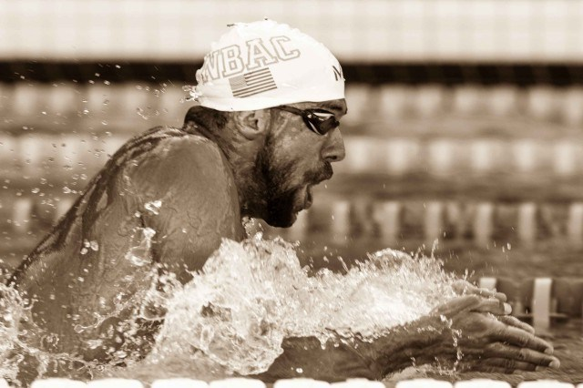 Michael Phelps Breaststroke by Mike Lewis