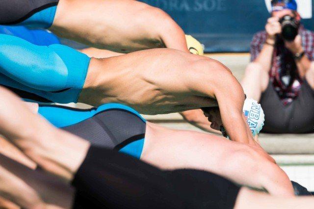 Michael Phelps 200 fly start Santa Clara Pro Swim 2015 (photo: Mike Lewis, Ola Vista Photography)