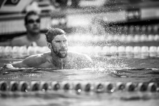 Michael Phelps final of the 200 fly (photo: Mike Lewis, Ola Vista Photography)