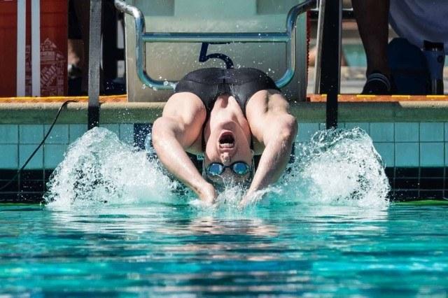 Missy Franklin 200 backstroke prelims 2015 Santa Clara Pro Swim (photo: Mike Lewis, Ola Vista Photography)