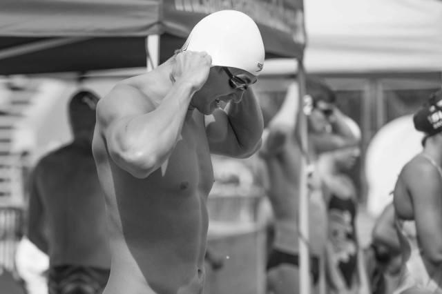 Nathan Adrian warm up Santa Clara Pro Swim (photo: Mike Lewis, Ola Vista Photography)