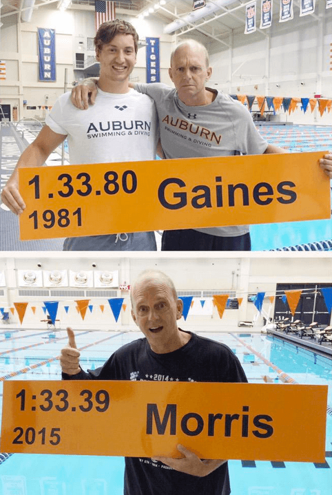 Hugo Morris' Auburn School Record Plaque Put Up To Replace Rowdy Gaines'