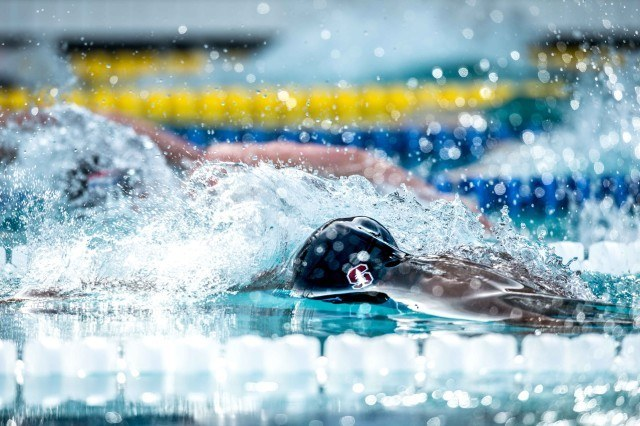 Simone Manuel 50 free final Santa Clara Pro Swim (photo: Mike Lewis, Ola Vista Photography)