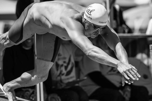 Tom Shields in the prelims of the 100 free (photo: Mike Lewis, Ola Vista Photography)