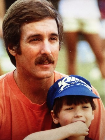 Dr. Keith Bell and his young son Bridger Bell.