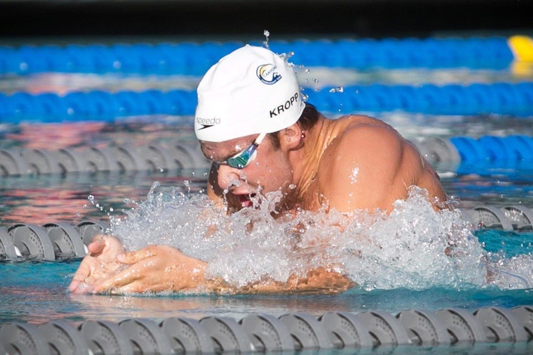 Peter Kropp Shatters ACC Record During 100 Breast Prelims