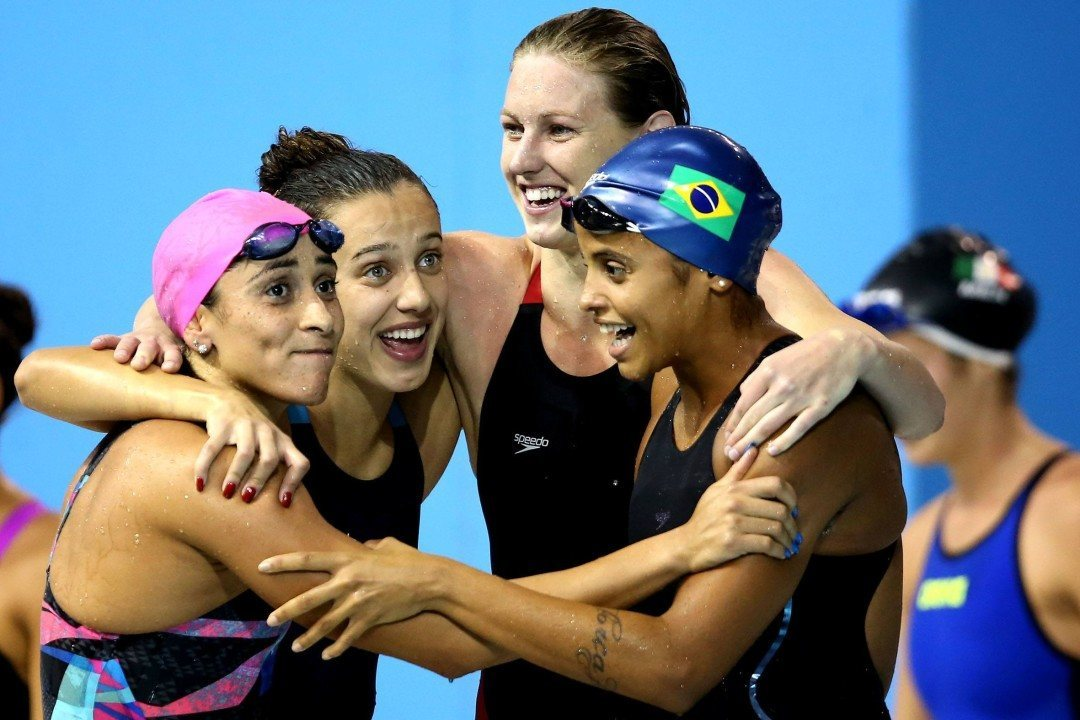 Brazilian Women Demolish South American Record in 400 Free Relay