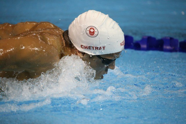 Toronto 2015 Pan am Games - Zack Chetrat breaks Canadian record in 200 fly day 1