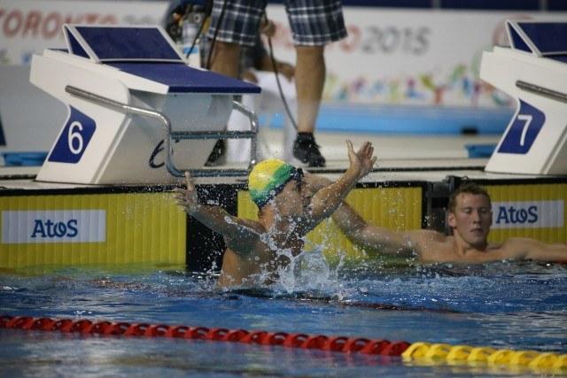 Toronto 2015 Pan am Games - Leonardo De Deus wins 200 fly day 1