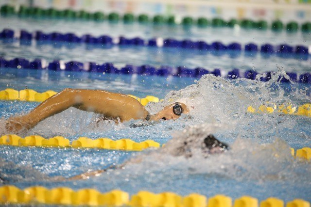 Toronto 2015 Pan am Games - Chantal Van Landeghem chases down Natalie Coughlin to win 4x100 free relay