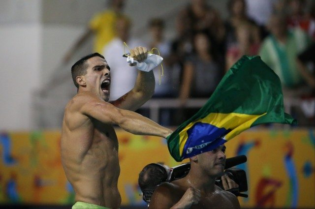 Toronto 2015 Pan am Games - Brazil wins mens 400 free relay night one