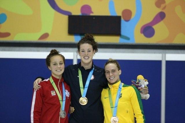 Toronto 2015 Pan American Games - Allison SChmitt wins 200 free