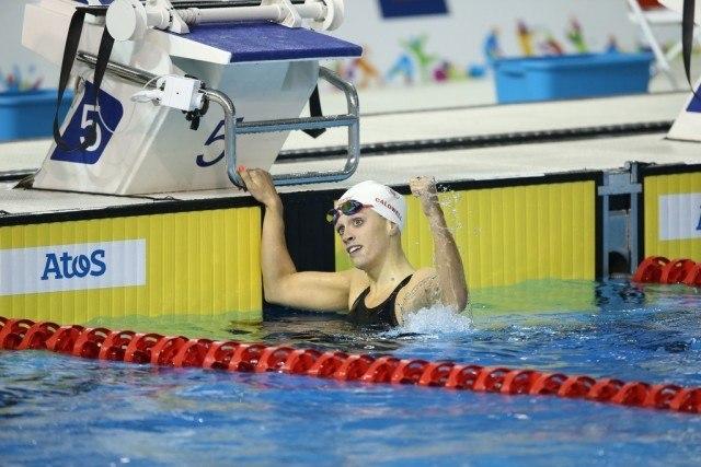 Toronto 2015 Pan American Games - Hilary Caldwell wins 2bk