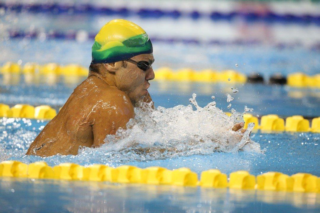 Brazil's Da Silva Lowers Own Pan Ams 100m Breast Sub-Minute Record